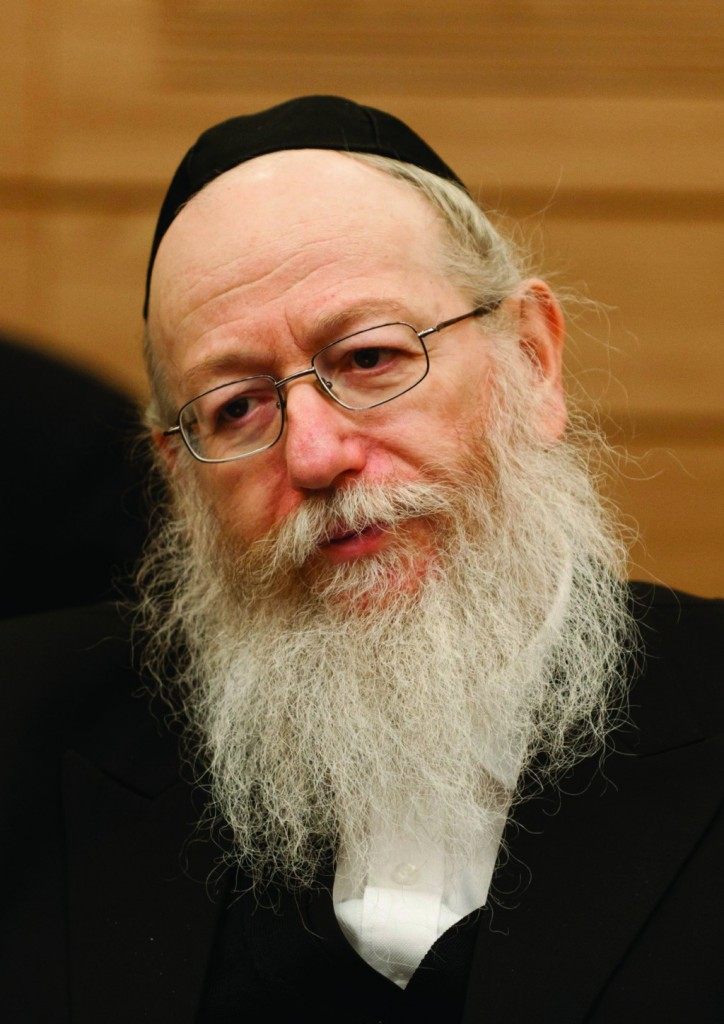 Knesset member Yaakov Litzman of United Torah Judaism seen at a Finance committee meeting in the Israeli parliament, during a discussion regarding 2013 budget changes December 16, 2013. (Flash 90)