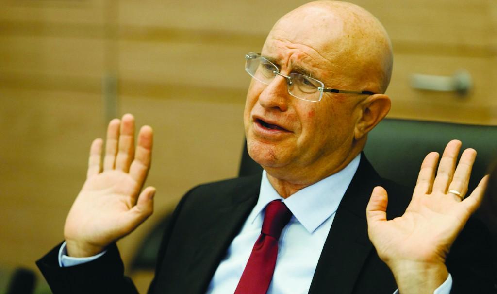 Chairman of the Economic Affairs committee Avishay Braverman. (Flash 90)