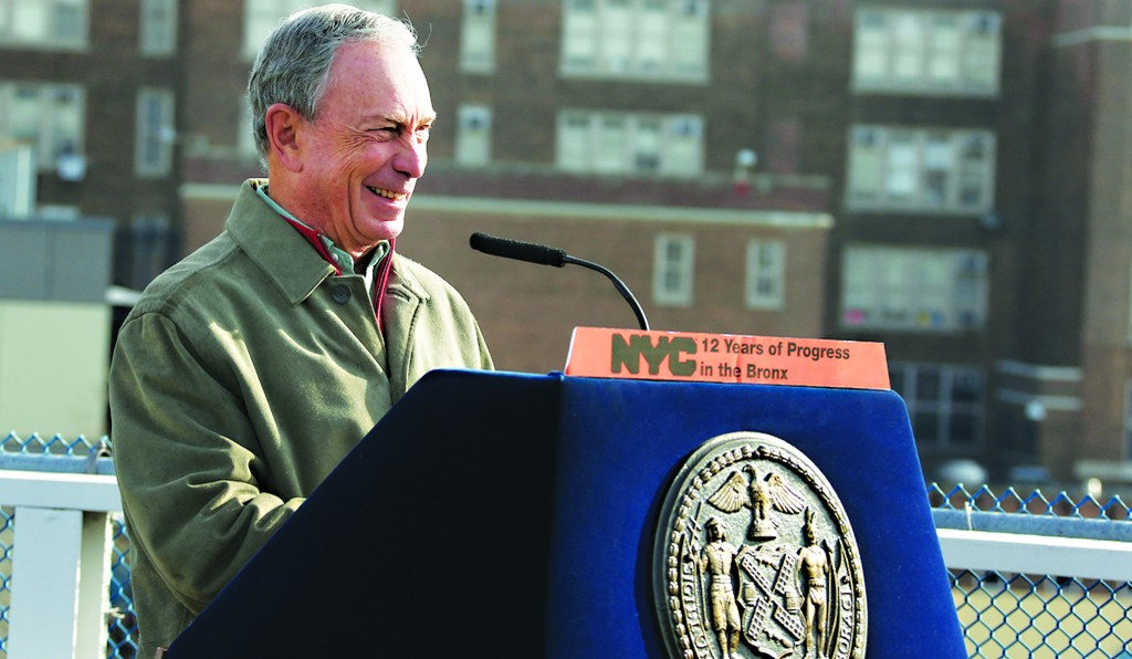 Mayor Bloomberg last weekend announcing New York City will reach 160,000 units of affordable housing by the end of the year. (Edward Reed)