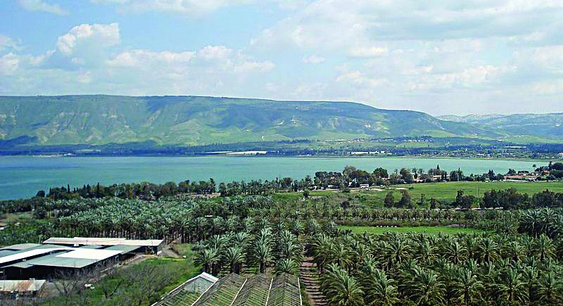 The Jordan Valley overlooking the Kineret. (wik)