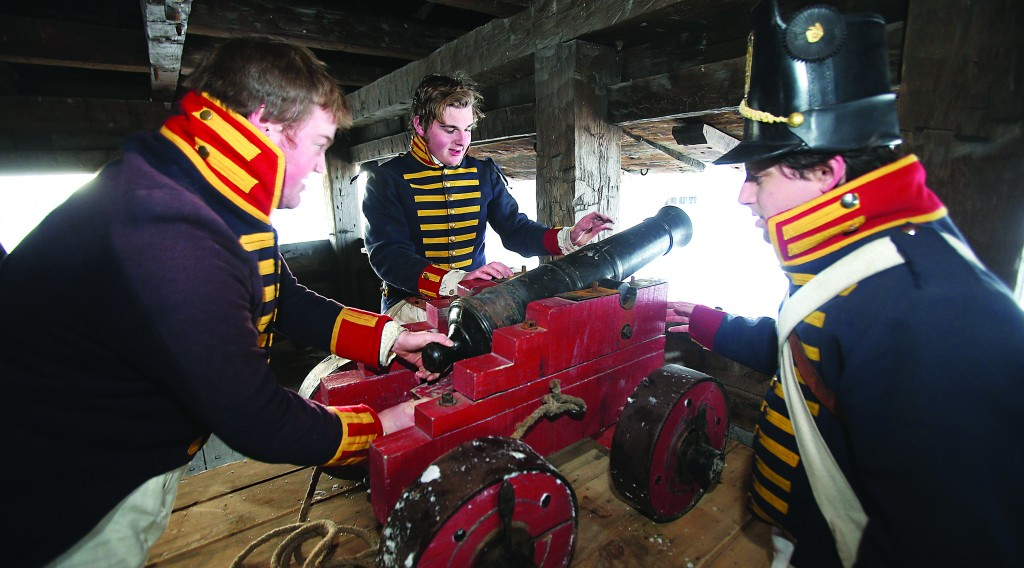 Old Fort Niagara in Youngstown, N.Y., on Wednesday staging a re-enactment to commemorate the 200th anniversary of the British siege of the fort during the War of 1812. (AP Photo/The Buffalo News, Robert Kirkham)
