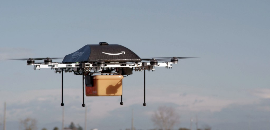 This undated image provided by Amazon.com shows the so-called Prime Air unmanned aircraft project that Amazon is working on in its research and development labs. (AP Photo/Amazon)