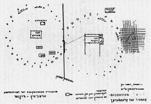 Map of Auschwitz drawn by Harav Weissmandl. (Witness to History)