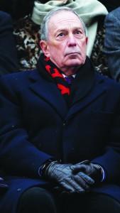 Former Mayor Michael Bloomberg Wednesday at the inauguration of his successor, Bill de Blasio.