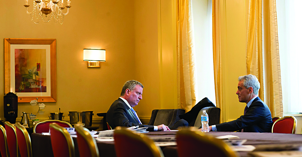 Mayor Bill de Blasio on Thursday attends the winter meeting of the U.S. Conference of Mayors in Washington. (Rob Bennett/Office of the Mayor)