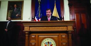 New Jersey Gov. Chris Christie speaks during a news conference Thursday at the Statehouse in Trenton, N.J. (AP Photo/Matt Rourke/Richard Drew)