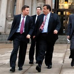 Bill Stepien (left) with Gov. Chris Christie