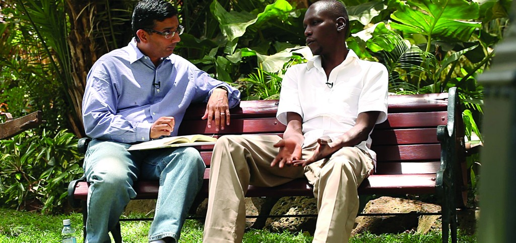 Dinesh D'Souza interviews George Obama, the president's half brother. (AP Photo/Rocky Mountain Pictures)