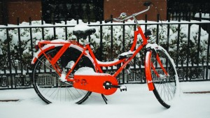 A bicycle sits covered by snow in the Brooklyn Heights section of the Borough of Brooklyn in New York. (REUTERS/Shannon Stapleton)