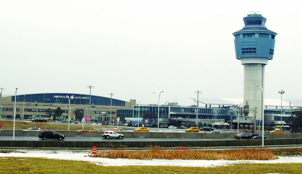 The control tower and hangars at LaGuardia Airport. (AP Photo/Frank Eltman)