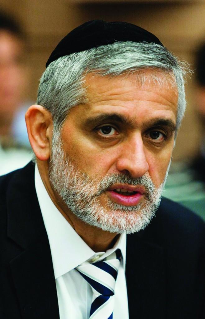 Shas MK Eli Yishai called for tougher treatment of illegal migrants. (Flash 90)