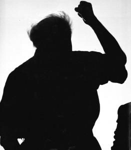 PM Ben Gurion, a photo taken from the back. (David Rubinger, Ed L'Tekufah, Nahar-Miskal, Tel Aviv 1988)