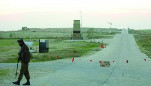 An Iron Dome missile defense battery deployed near Beersheva on Monday. (Flash90)