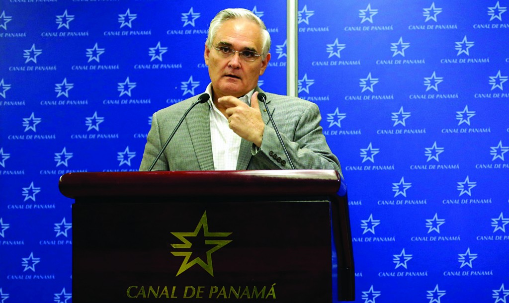 Panama Canal administrator Jorge Quijano during a news conference  in Panama City, Tuesday. (REUTERS/Carlos Jasso)