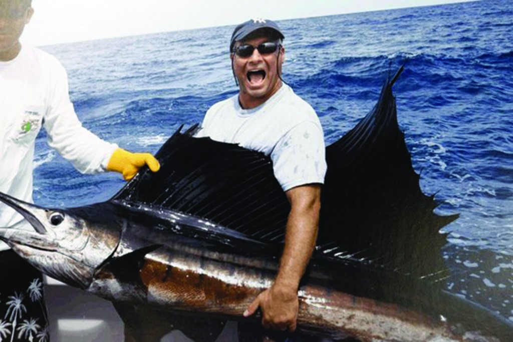 Richard Cosentino, seen here fishing, received more than $207,000 when he ostensibly was on disability. (Manhattan DA)