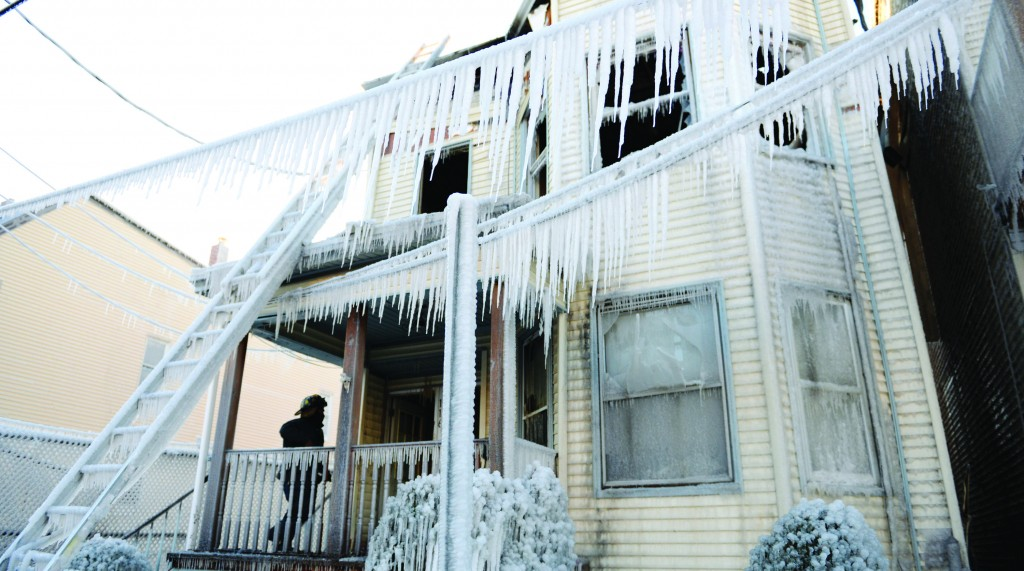 An early morning fire in a Bergen County home Tuesday was knocked out by fire hoses, which then froze.