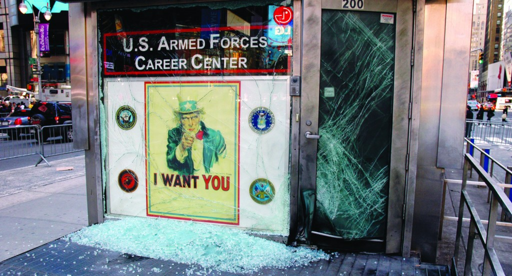 A Times Square military recruiting station was bombed on Mar. 6, 2008. (U.S. Marine Corps.)