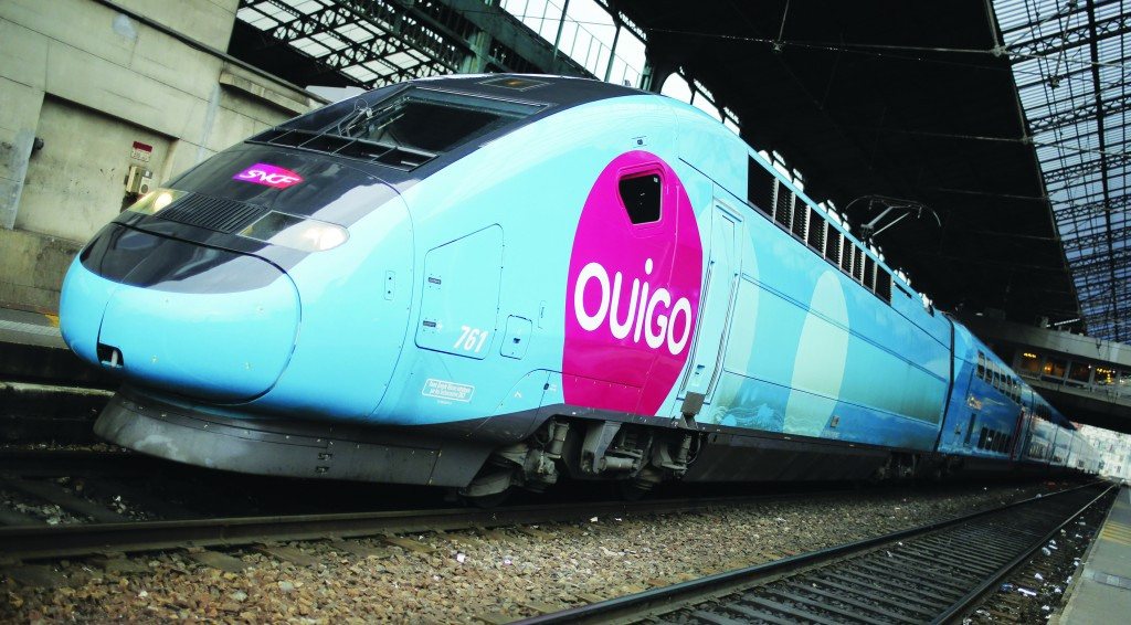 A SNCF low-cost high-speed train service at the Lyon-Perrache railway station, in Lyon, central France.  (AP Photo/Laurent Cipriani(