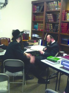 Modzitzer Chassidim at the DATA Community Kollel in Dallas, Texas.