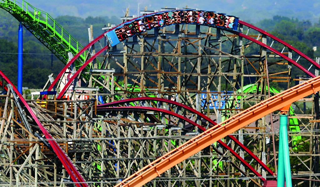 The Texas Giant roller coaster. (AP Photo/Tony Gutierrez)