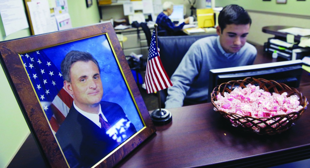 A portrait of Rep Rob Andrews at his office Tuesday in Haddon Heights, N.J. (AP Photo/ Mel Evans)