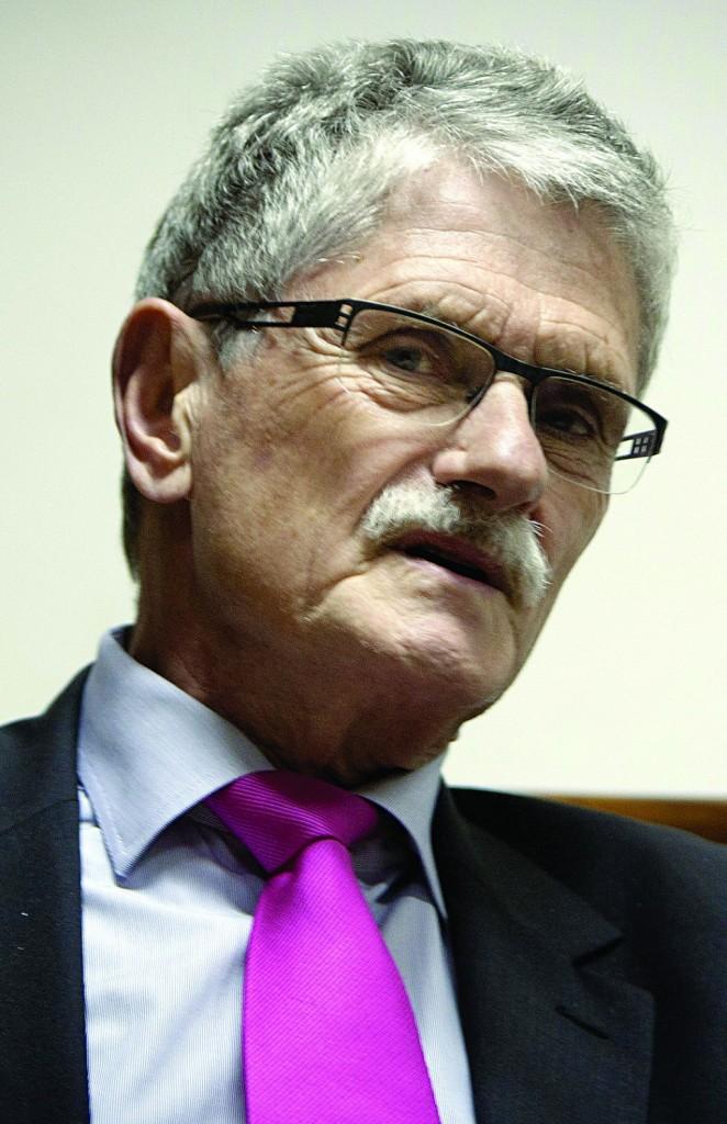 Danish parliament speaker Mogens Lykketoft. (AP Photo/Majdi Mohammed)