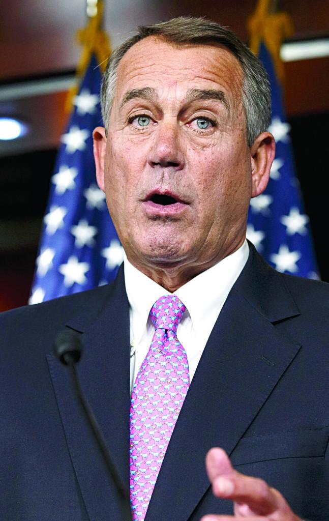 House Speaker John Boehner of Ohio speaks during a news conference on Capitol Hill in Washington. (AP Photo/J. Scott Applewhite)