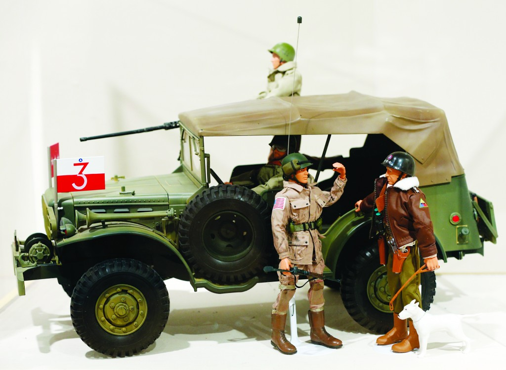 Gen. George Patton and other G.I. Joe action figures in a display at the New York State Military Museum in Saratoga Springs. (AP Photo/Mike Grol)