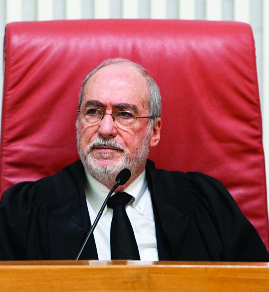 President of the High Court Asher Gronis heads a panel to rule on the Anti-Boycott Law.  (Flash 90)