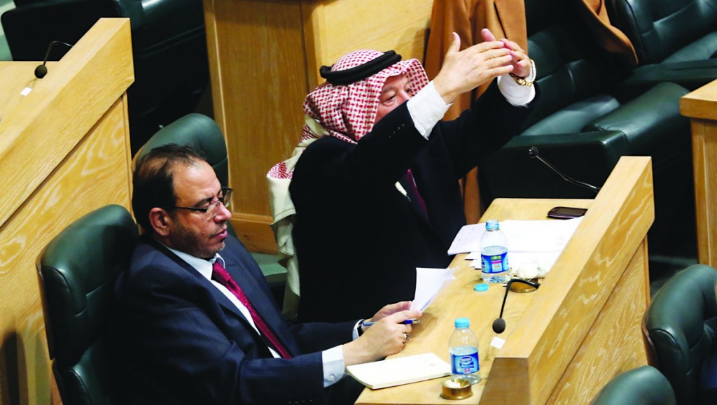 Jordanian lawmakers at a recent session of the parliament in the capital, Amman. (AP Photo)