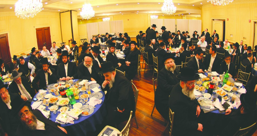 Representatives of Jewish organizations at the Misaskim breakfast on Sunday. (Misaskim)