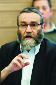 UTJ MK Rabbi Moshe Gafni (Flash 90)