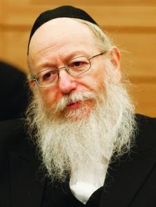 UTJ MK Rabbi Yaakov Litzman (Flash 90)