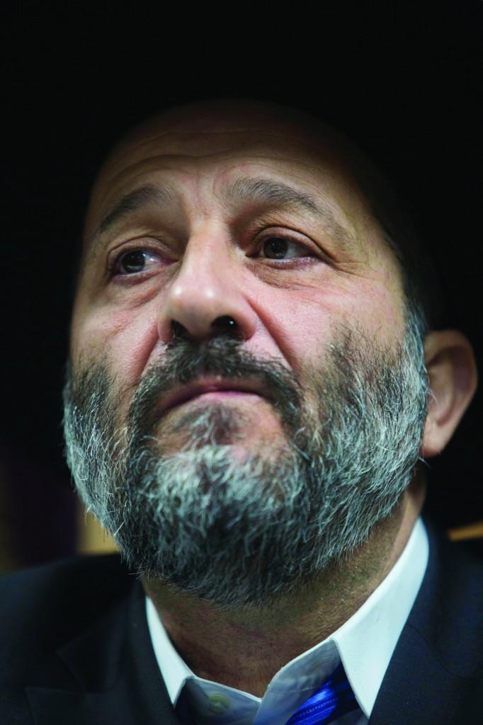Shas party leader Aryeh Deri. (Yonatan Sindel/Flash90)