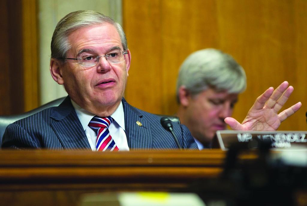 Senate Foreign Relations Committee Chairman Sen. Robert Menendez (D-N.J.) at a hearing on Capitol Hill last month. (AP Photo/Pablo Martinez Monsivais)
