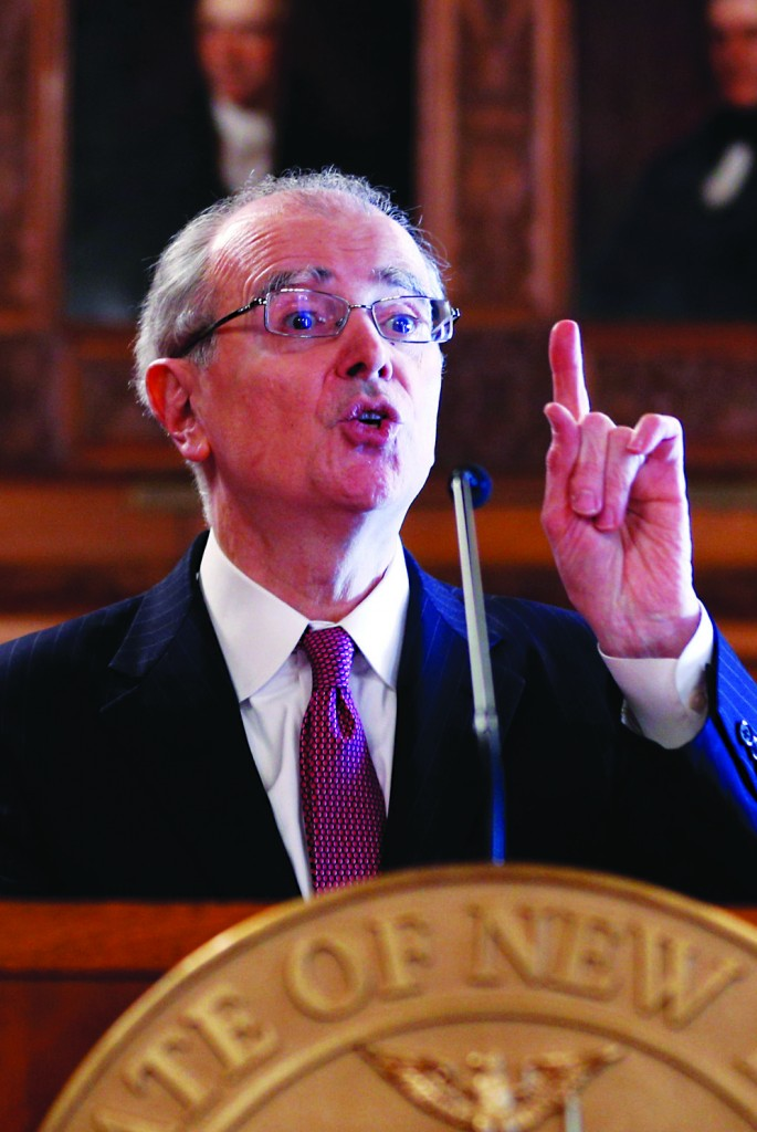 Chief Judge Jonathan Lippman on Tuesday delivers his State of the Judiciary address. (AP Photo/Mike Groll)