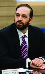 Shas MK Ariel Atias, a member of the Shaked Committee. (Flash90)