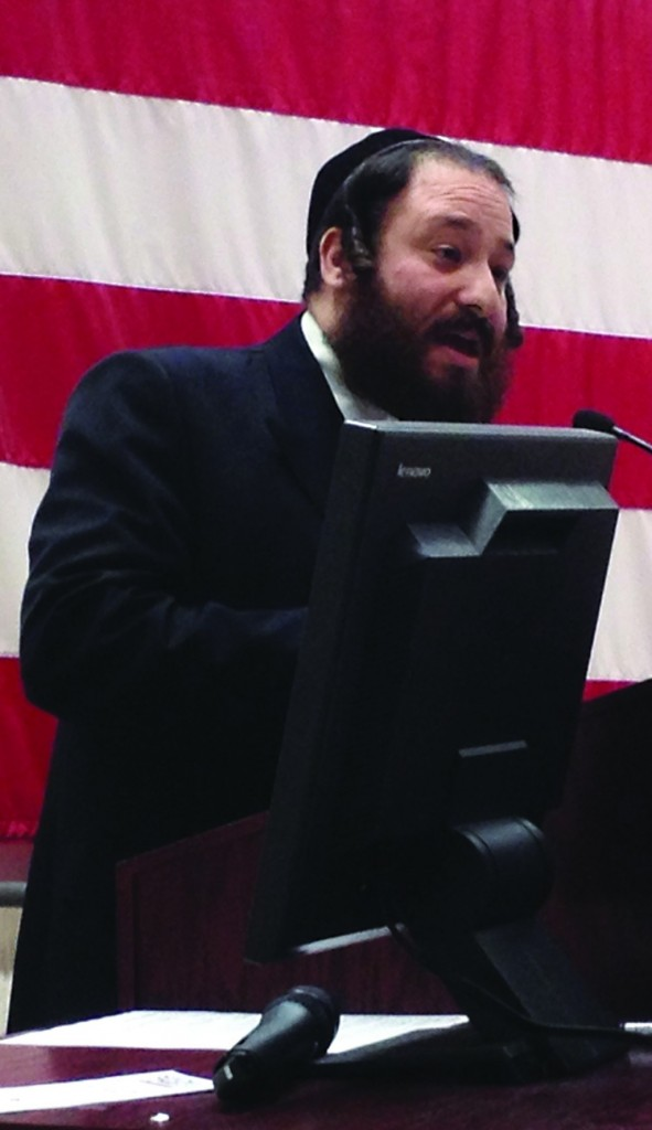Rockland Majority Leader Aron Wieder at a naturalization ceremony in Pamona on Friday. (Rockland County Legislature)