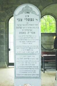 "Tziyun of Harav Naftali Tzvi Halberstam, the Bobover Rebbe, zt""l."