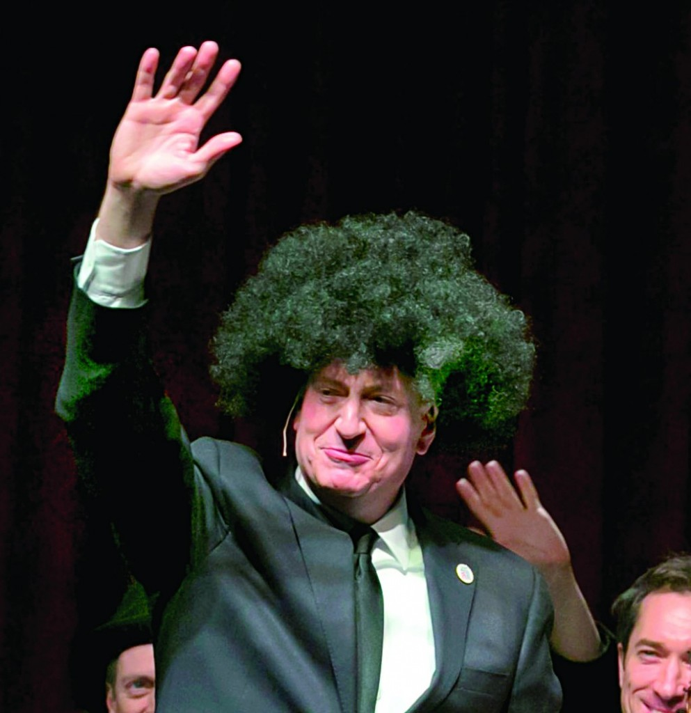 Mayor Bill de Blasio during the annual Inner Circle show Saturday. (City Hall, AP Photos)