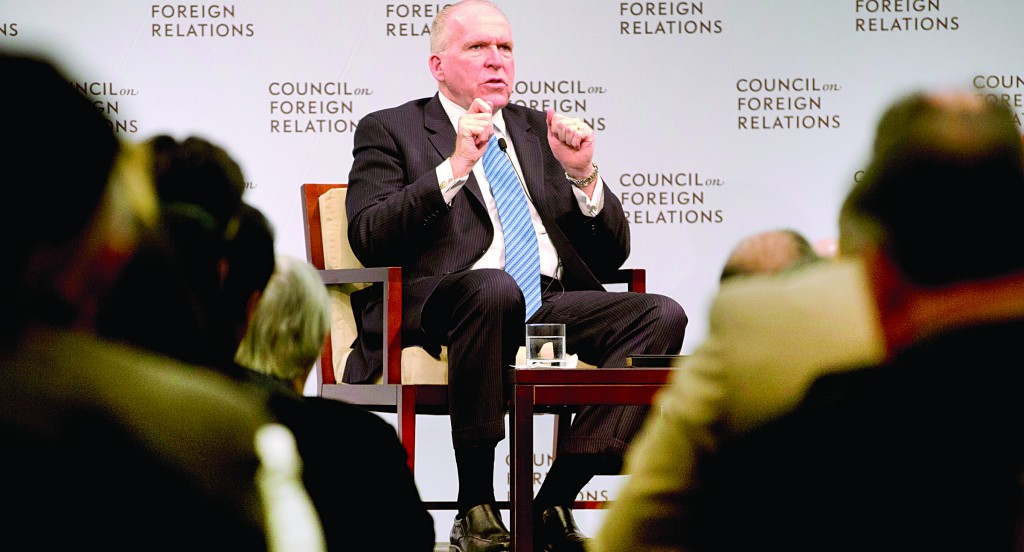 CIA Director John O. Brennan speaks at the Council on Foreign Relations, Tuesday, in Washington. (AP Photo/Carolyn Kaster)