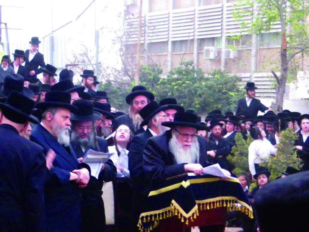 The Sanz-Klausenburger Rebbe of Eretz Yisrael, shlita.