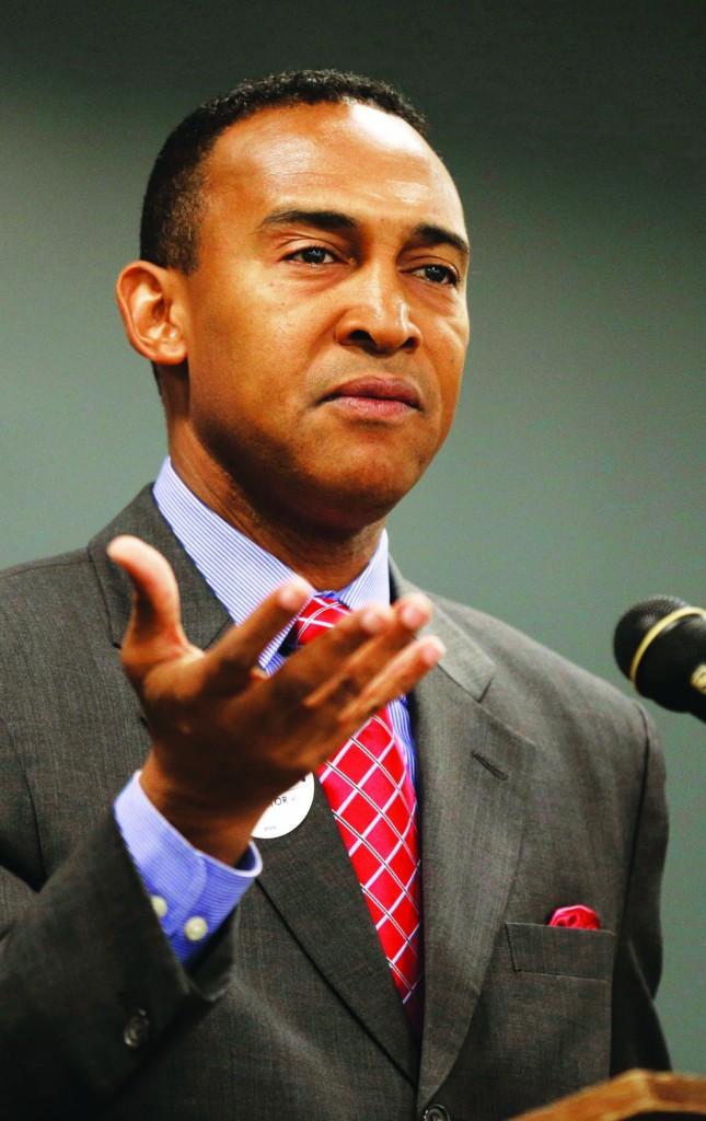 Charlotte Mayor Patrick Cannon. (AP Photo/Chuck Burton)