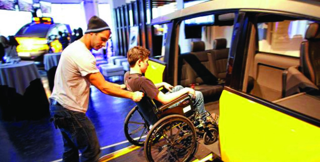 A wheelchair-accessible taxi in New York. (AccessibleTaxi.org)