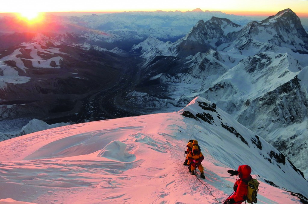 In this May 18, 2013 file photo released by mountain guide Adrian Ballinger of Alpenglow Expeditions, climbers make their way to the summit of Mount Everest, in the Khumbu region of the Nepal Himalayas. (AP Photo/Alpenglow Expeditions, Adrian Ballinger, File)