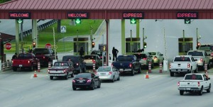 Security check vehicles as they enter Fort Hood's main gate, Thursday. (AP Photo/Eric Gay)