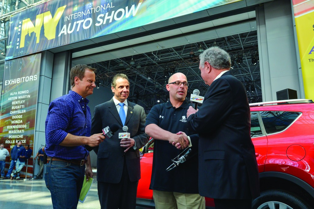 Gov. Andrew Cuomo on Saturday opens the 2014 New York International Auto Show at the Jacob Javits Center in Manhattan. (Office of the Governor)