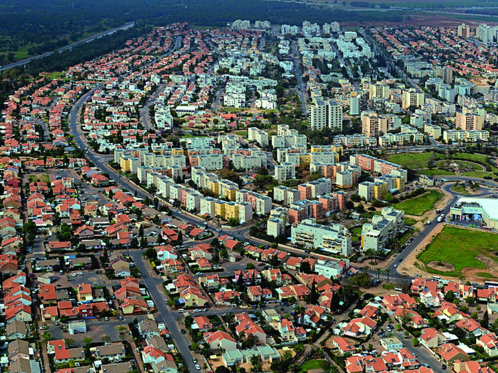 An aerial view of Kiryat Gat.