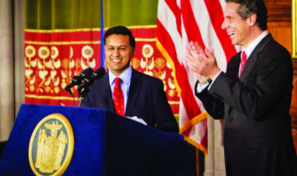 Dr. Nirav Shah on his confirmation as health commissioner in 2010. (Office of the Governor)