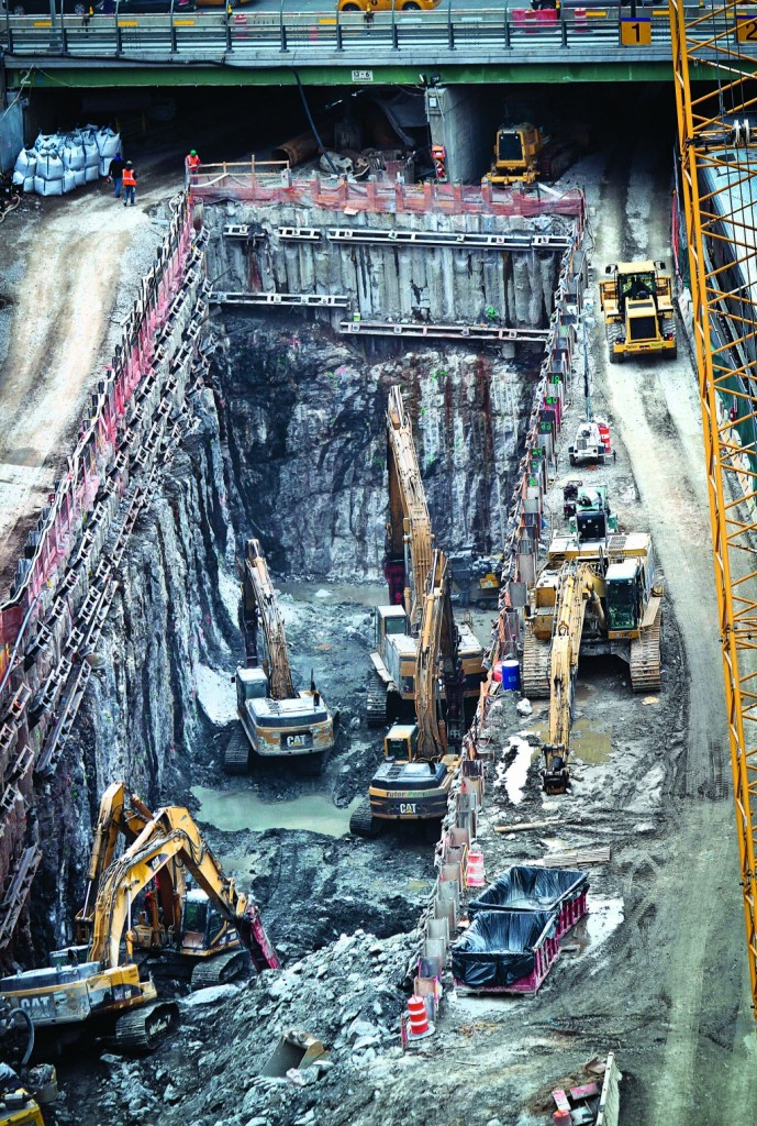 Ongoing construction of a rail tunnel at the Hudson Yards redevelopment site on Manhattan's West Side two weeks ago. (AP Photo/Bebeto Matthews)